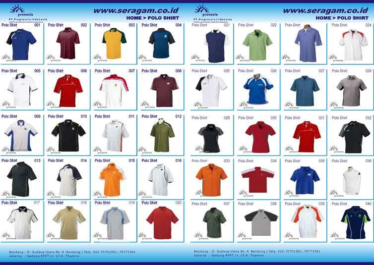 Polo shirt polo shirt 008 pakaian seragam konveksi seragam
